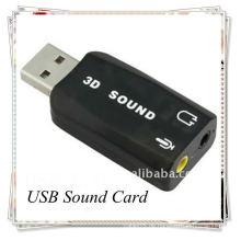 Gute Qualität USB 2.0 EXTERNE SCHALLKARTE 3D 5.1 AUDIO ADAPTER für PC