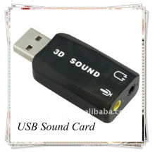 Bonne qualité USB 2.0 EXTERNAL SOUND CARD 3D 5.1 AUDIO ADAPTER pour PC