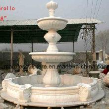 Weißer Carrara Stein Skulptur Wasserbrunnen (SY-F008)