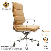 Eames clásico aluminio cuero Gerente oficina giratoria (GV-EA219)