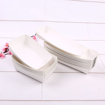 PE lamination Disposable Fired Food Snack Packaging Box