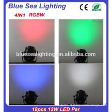 Luz do estágio do diodo emissor de luz 12w RGBW 4in1 do interior 18