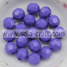 New Wholesales Acrylic Faceted 4MM Purple Opaque Gumball Glass Beads For Bracelets Or Necklaces