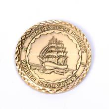 Покрынный Золотом Изготовленный На Заказ Коммеморативная Монетка