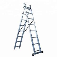 3 section aluminium extension ladder a type ladder
