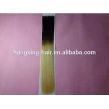 100% человеческих Реми ленточное наращивание волос ombre наращивание волос ленты