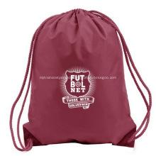 Branded Logo Polyester Drawstring Backpacks