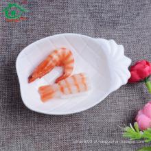 China de alta qualidade prato de forma de ananas sushi feito de cerâmica vários tamanho, forma e cores, OEM também disponível