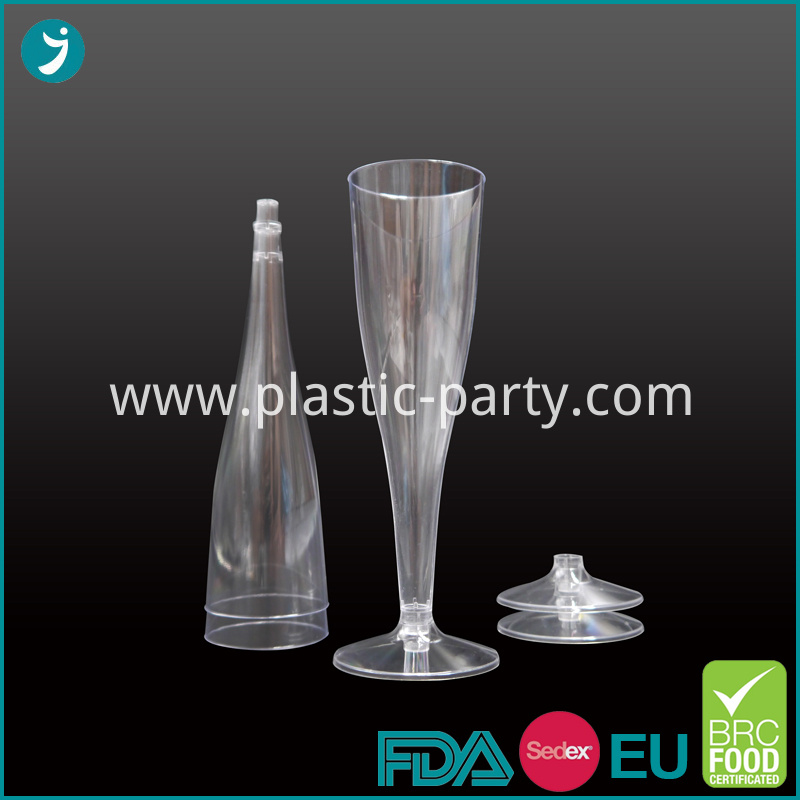 Champagne Cup Clear Plastic PS
