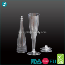 Champagne Cup Clear Plastic Disposable