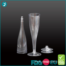 Clear Plastic Champagne Flutes 4.5 oz Disposable