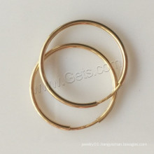 2015 Gets.com gold filled big wide hoop earring finding Hoop Earring Components