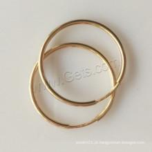 2015 Gets.com ouro cheio grande brinco hoop encontrar Hoop Earring Componentes