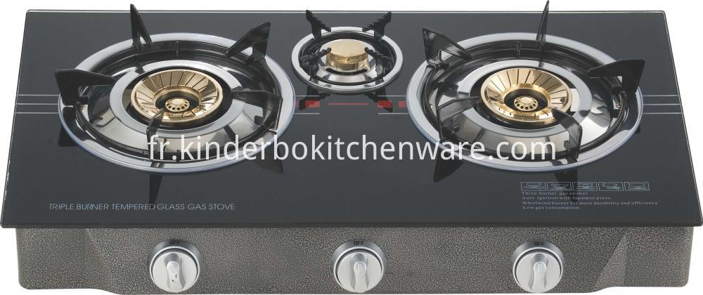 Iron Burner Glass Table Gas Cooker