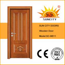 Sola hoja Ingrese la puerta de madera