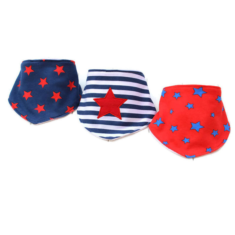 100% Organic Cotton Folding Best Baby Bandana Bibs