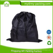 Logotipo do OEM e embalagem personalizada do saco do cordão de Cinch da equipe do tamanho
