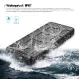 20000mah waterproof 3 USB power bank antifriction