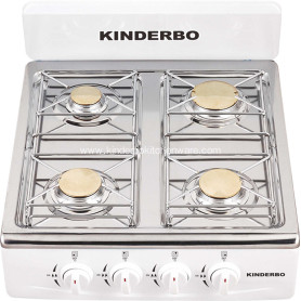 Four Brass Burner Stove Stainless Steel Gas Cooker