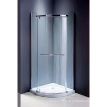 Tela de chuveiro de vidro do cerco sanitário simples dos mercadorias
