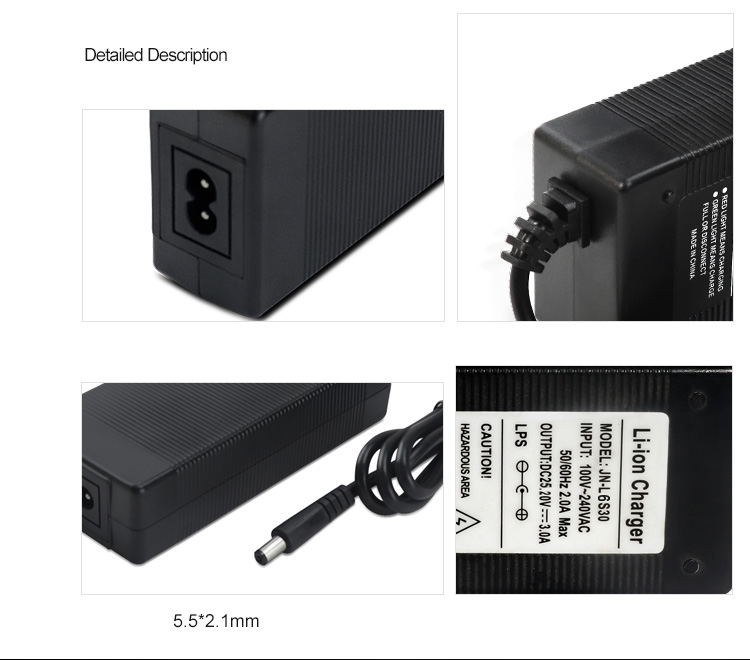 25.2V 3A Electric Scooters Charger Adapter
