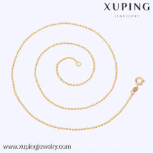 42589 Xuping Gold Perlen Halskette Design Günstige Slim Fashion Halskette