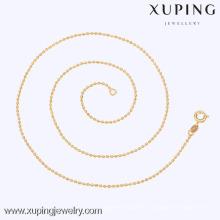 42589 Xuping Золото Ожерелье Из Бисера Дизайн-Дешевый Тонкий Мода Ожерелье