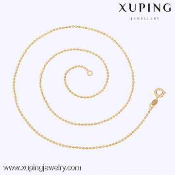 42589 Xuping Colar De Contas De Ouro Projeto Barato Magro Moda Colar