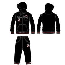 Homens lazer moda velo para baixo jaqueta e calça em roupas para adultos (sqm-101)