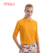 Spring&Autumn Half Sleeve Turn-Down Collar Women Shirt