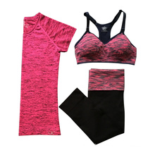 High quality woman fitness pants yoga leggins bra set underwear bra set