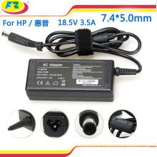 Ноутбук AC адаптер питания зарядное устройство для hp 18.5V 3.5A 65W 7.4 * 5.0mm сделано в Китае
