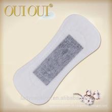 Forro personalizado dos calcinhas da amostra das empresas das almofadas sanitárias dos íons