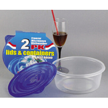 Runde Plastik nehmen weg Microwavable Nahrungsmittelbehälter 48oz