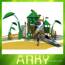 Terrains de jeux en bois vert de qualité supérieure pour enfants