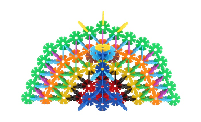 Awesome Construction Plastic Snowflake Toys