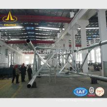 220kV Linha de Transmissão Steel Tapered Tower