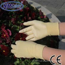 Forro NMSAFETY 15Gpolyester Nitrilo transparente para luva de proteção de mão