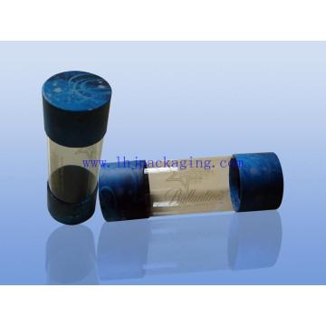 Nuevo diseño de regalo de embalaje de papel redondo caja de tubo de plástico