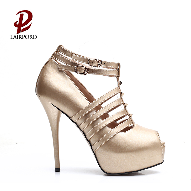 new design high heel platform women sandals