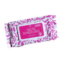 Lip and eye makeup remover cleaning wipes