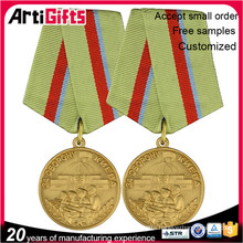 Handmade metal military honor medal badge