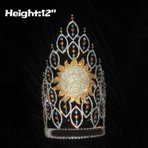 Coroas de verão por atacado de grandes concursos de cristal