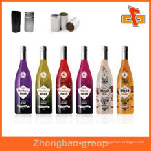 Guangzhou vendor water proof customizable shrinkable heat sensitive attractive wine bottle neck label with your logo