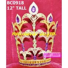 Corona de rhinestone colorido concurso