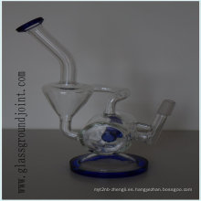 Vidrio resistente al calor fumar pipa de agua narguile con junta esmerilada