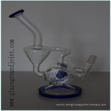 Heat Resistant Glass Smoking Water Pipe Hookah with Ground Joint