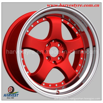 Red Surface Alloy Rims for Car