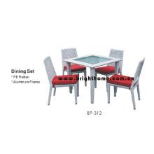 Muebles de Rattan - Silla y tabla de cena (BP-312)