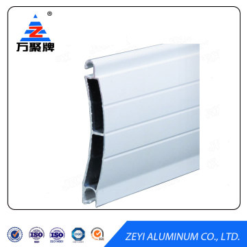 Extruded aluminum profile for rolling shutter door